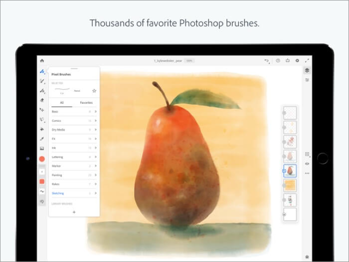 adobe fresco ipad app screenshot