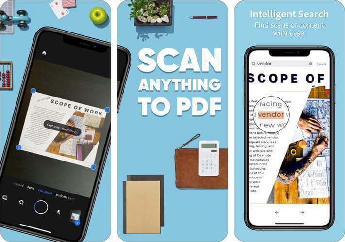 adobe scan iphone app screenshot
