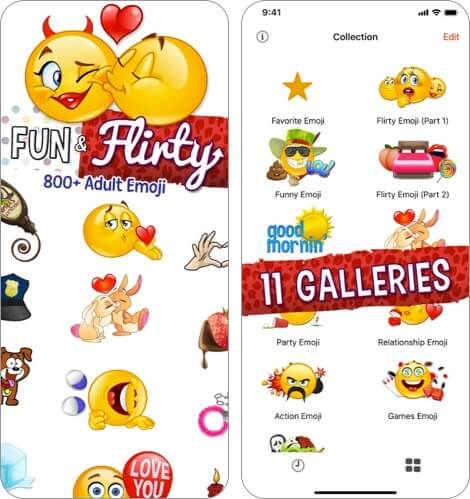 Adult Emoji for Lovers iPhone and iPad App Screenshot