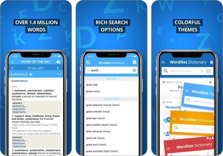 Advanced Dictionary & Thesaurus iPhone and iPad App Screenshot
