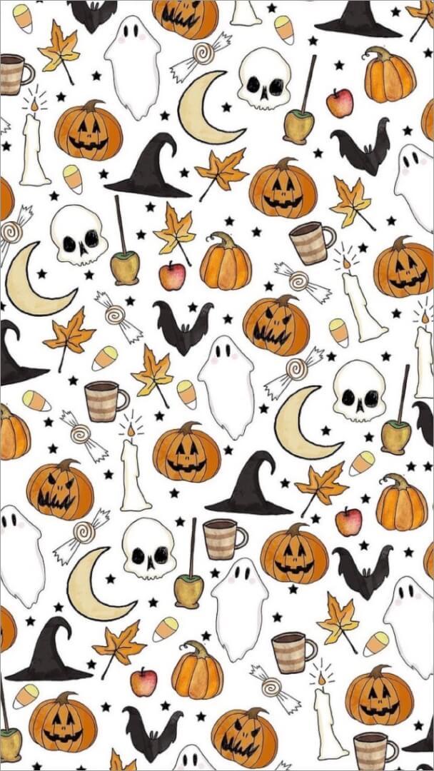 Aesthetic Halloween Wallpaper for iPhone