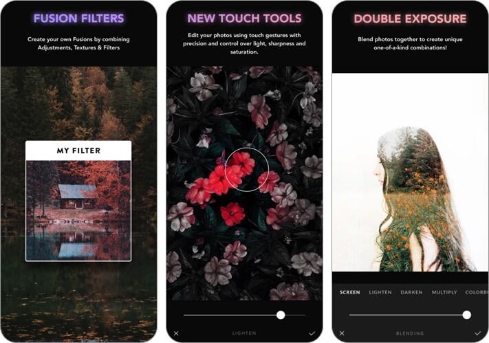afterlight photo editor iphone and ipad app screenshot