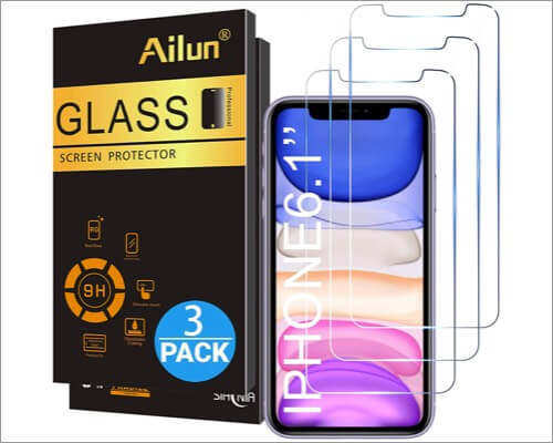 ailun glass screen protector for iphone xr