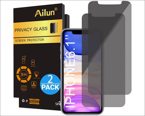 ailun privacy screen protector for iphone xr