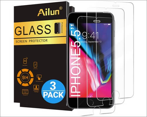 ailun tempered glass and screen protectors for iphone 8 plus