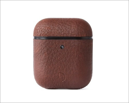 aircase2 brown leather case for airpods and airpods 2