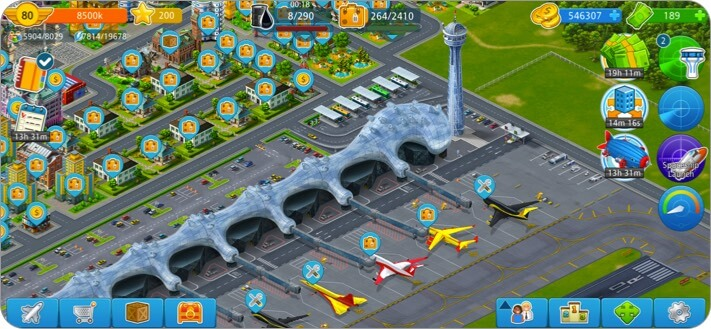 airport city iphone and ipad city building game screenshot