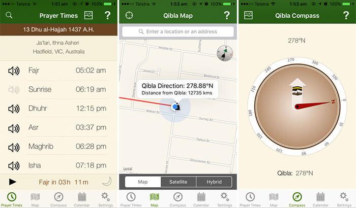 alQibla iPhone and iPad App Screenshot