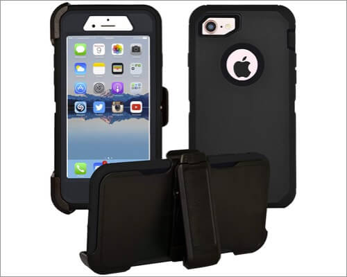 alphacel belt clip protective case for iphone se 2020