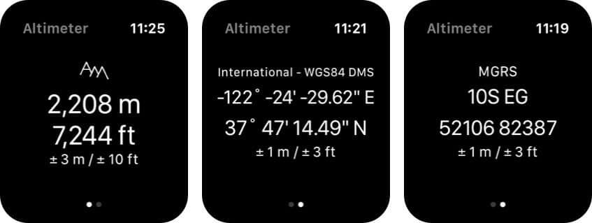 Altimeter - Get your altitude Apple Watch App Screenshot
