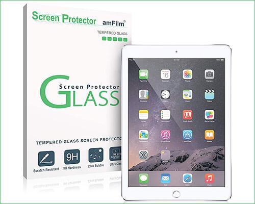 amFilm 2018 iPad 9.7-inch Tempered Glass Screen Protector