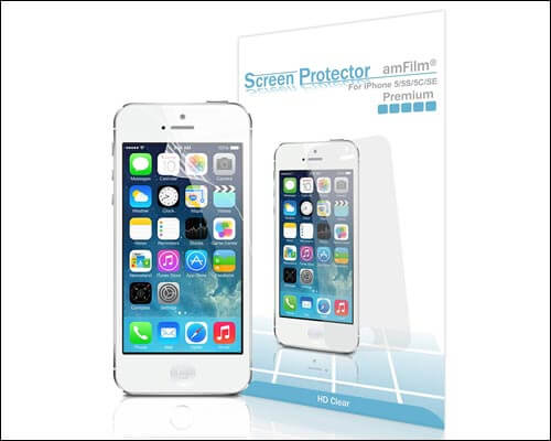 amFilm Screen Protector for iPhone SE, 5, 5S, 5C