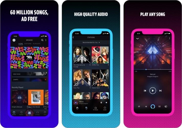 amazon music streaming iphone and ipad app screenshot