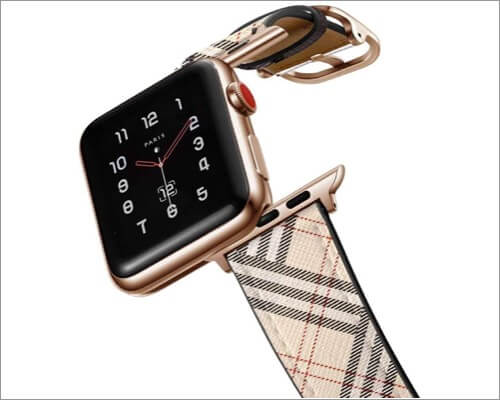 amband leather band for apple watch 5