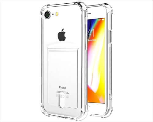 anhong iphone se 2020 clear case with card holder