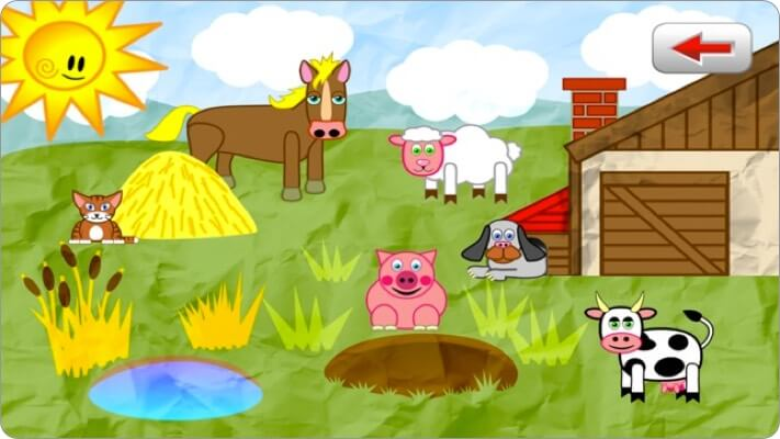 animals for toddlers iphone and ipad app screenshot