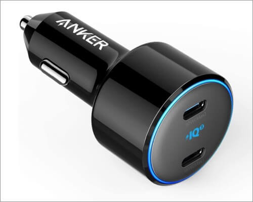 anker powerdrive usb c car charger for iphone 11, 11 pro and 11 pro max