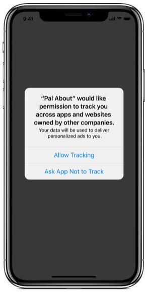 Приложение запрашивает разрешение на отслеживание в iOS 14