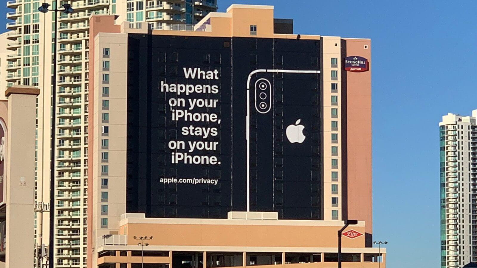 Apple Billboard on Privacy Outside CES