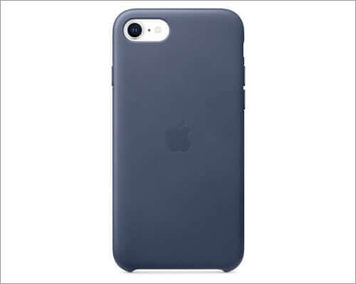 apple iphone se 2020 midnight blue leather Case