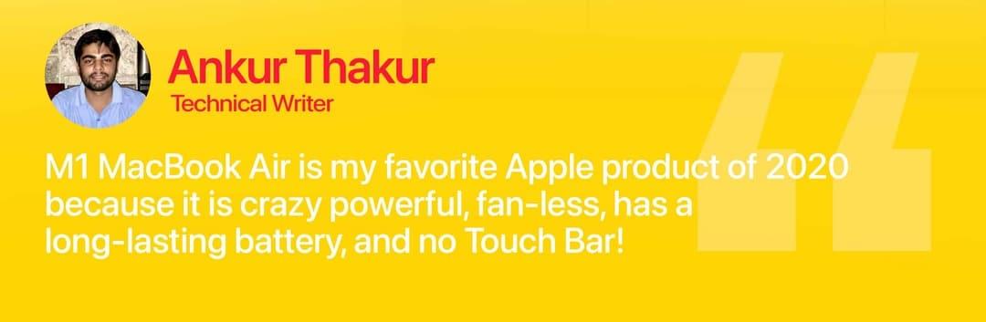 Apple MacBook Air M1 Review Ankur