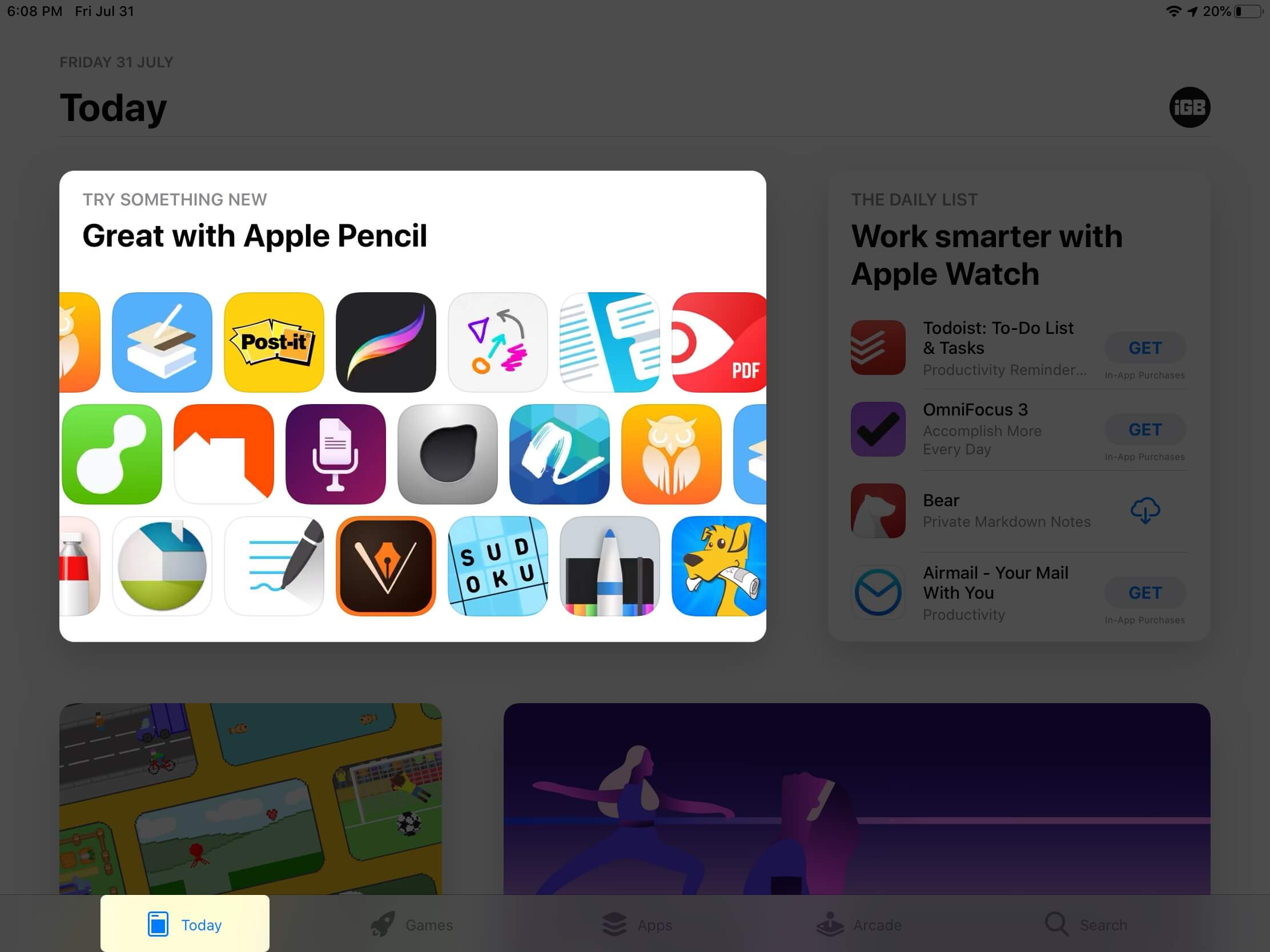 apple pencil supported apps in app store on ipad