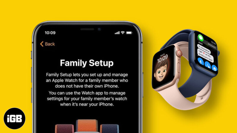 apple watch family setup