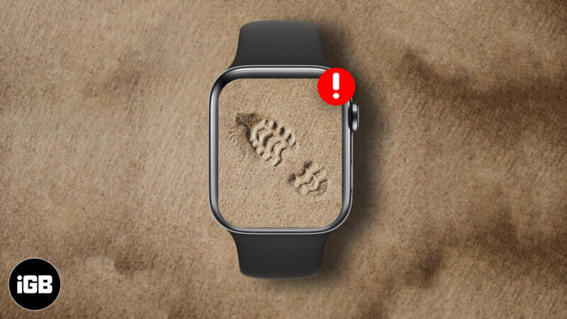 apple watch not tracking steps