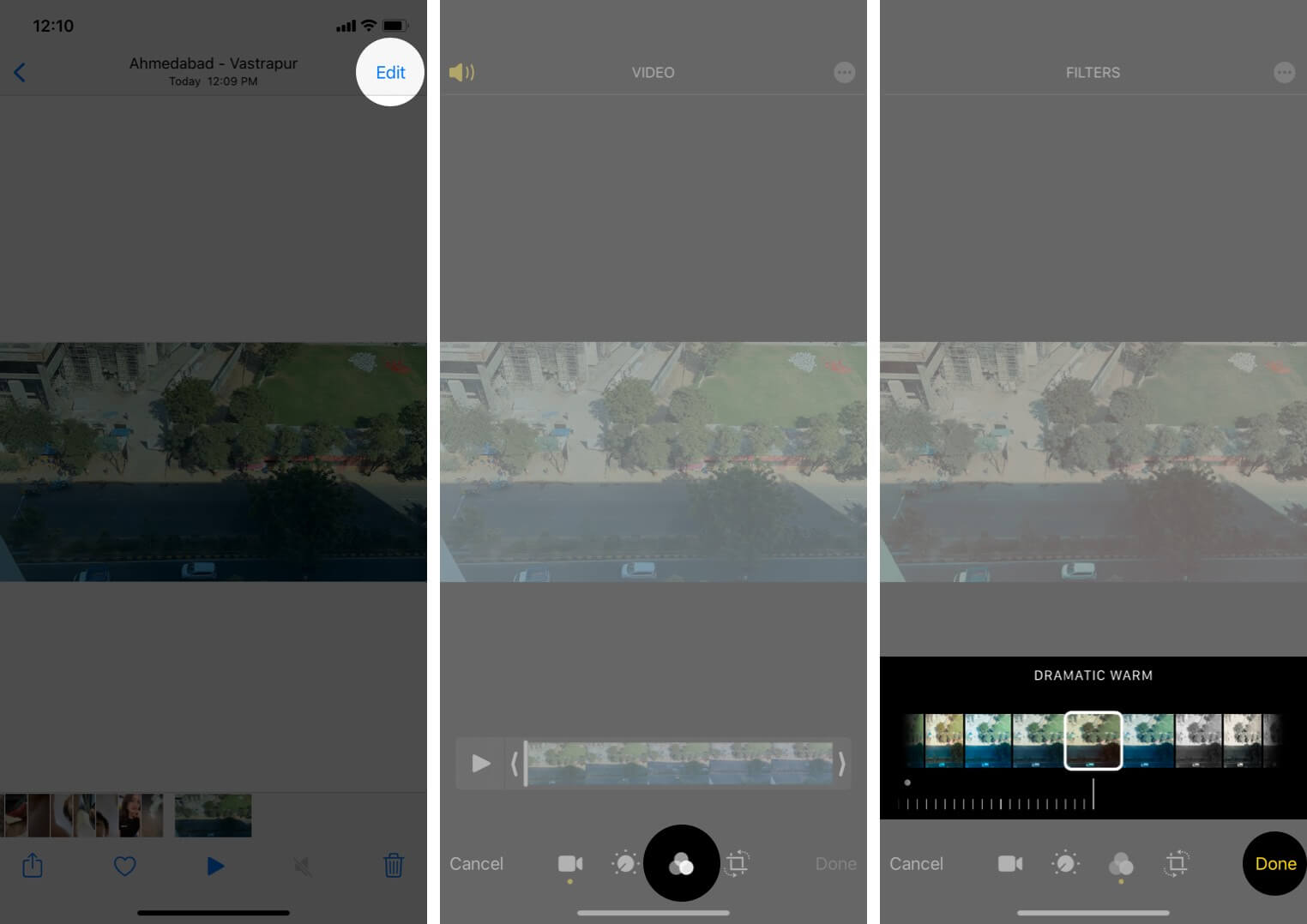 Apply Filter to Video on iPhone