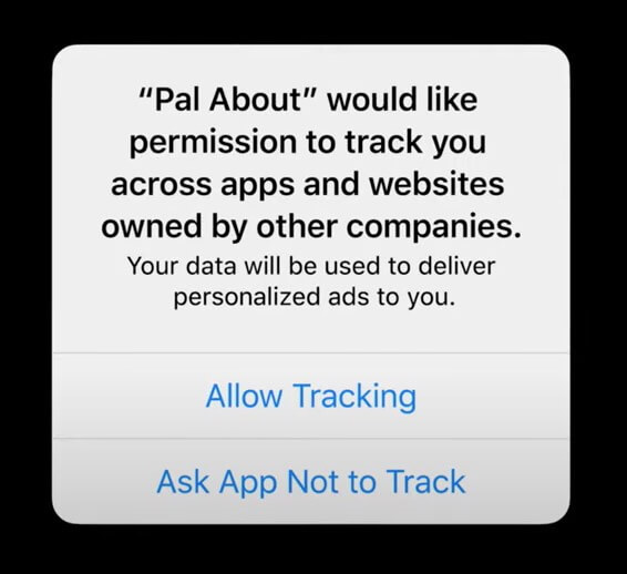 ask for permission to track your activity