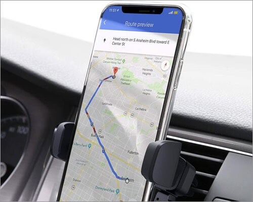 aukey car vent mount for iphone 11, 11 pro, and 11 pro max