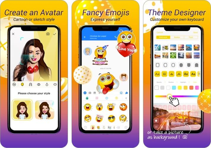 avatar keyboard iphone and ipad app screenshot