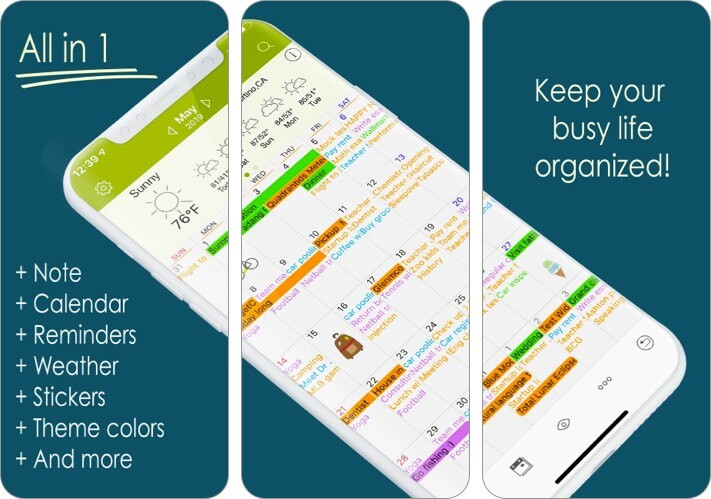 Awesome Calendar iPhone and iPad App Screenshot