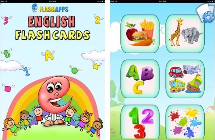 baby flash cards iphone and ipad toddler app screenshot