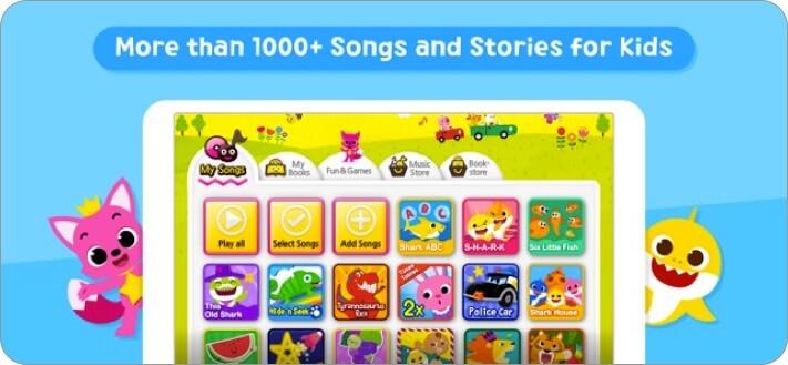 baby shark best kids songs iphone and ipad app screenshot