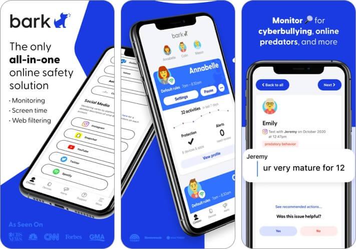 Bark iPhone and iPad Parental Control App Screenshot