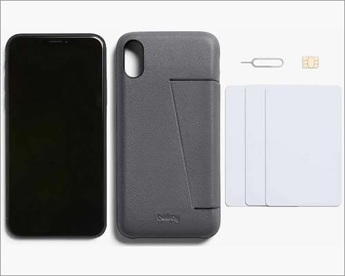 bellroy 3 Card iPhone X Leather Case