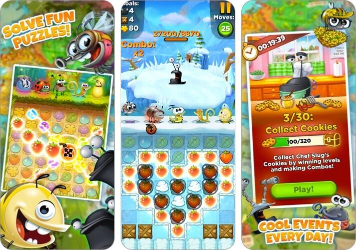 best fiends puzzle adventure iphone and ipad offline game screenshot