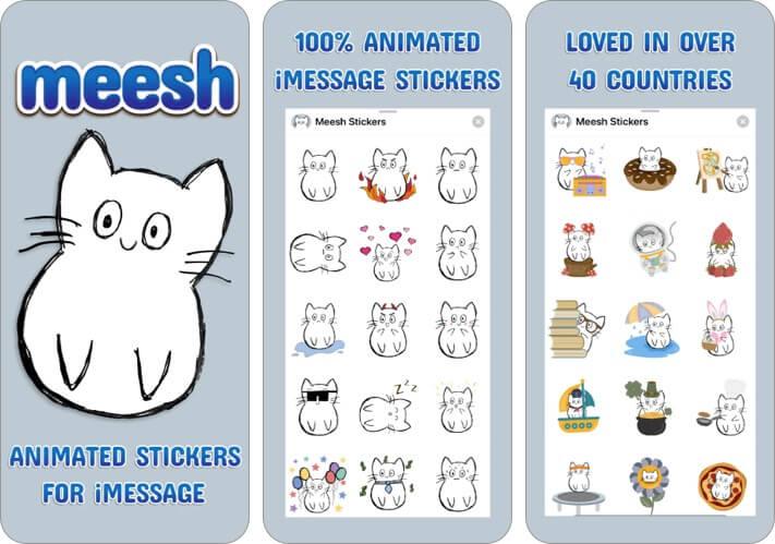 best imessage cat sticker app on iPhone