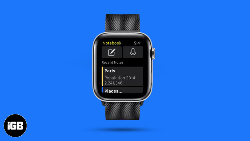 Best Notes App for Apple Watch