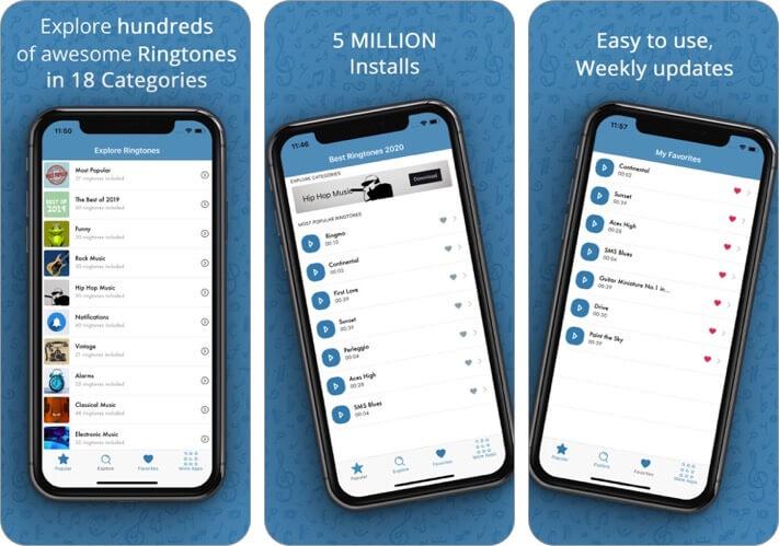 best ringtones 2020 iphone app screenshot
