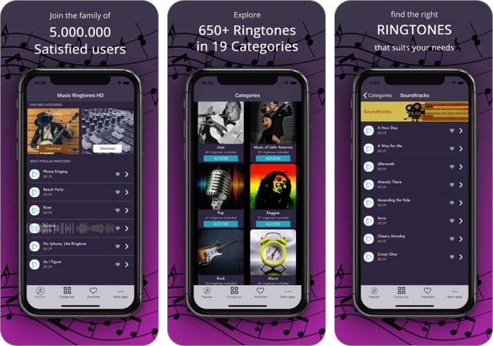 best ringtones: top music iphone app screenshot