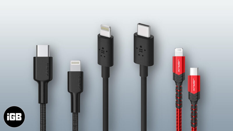 best usb c to lightning cables