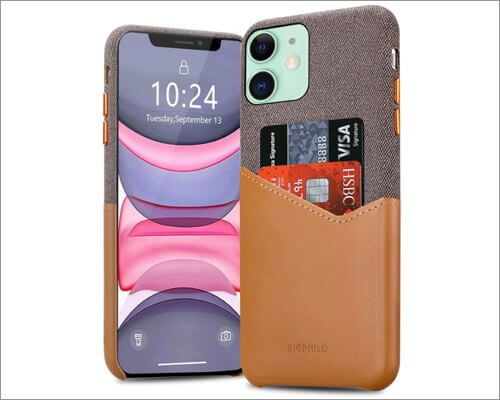 bigphilo fabric leather case for iphone 11, 11 pro and 11 pro max