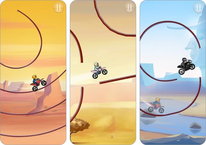 bike race simulation iphone game screenshot