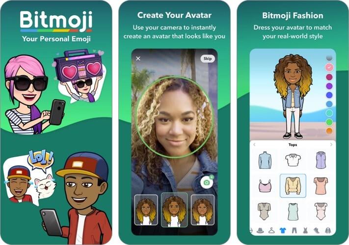 Bitmoji iPhone App Screenshot