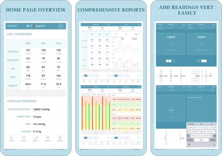 blood pressure companion iphone health app screenshot