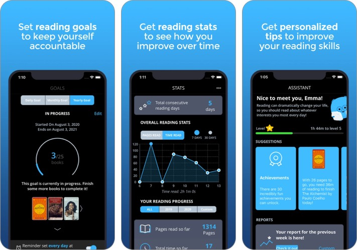 Bookly New Year Resolutions iPhone and iPad App Screenshot