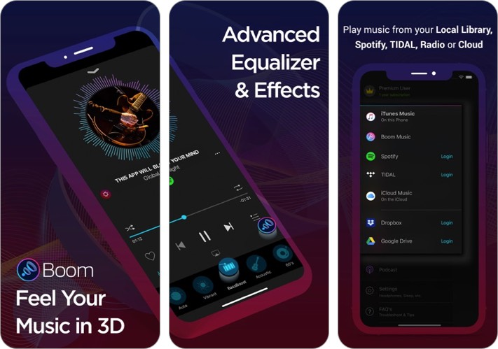 boom: bass booster & equalizer iphone and ipad app screenshot