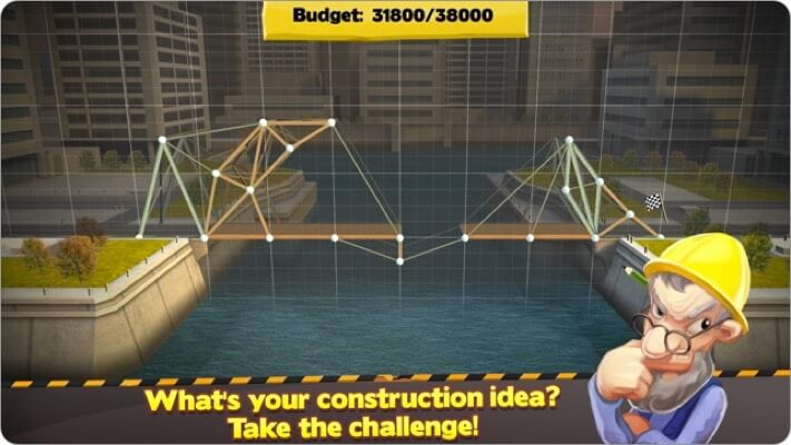 bridge constructor iphone simulator game screenshot
